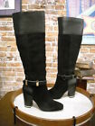 Hal Rubenstein Black Leather & Suede Tall Boot NEW