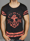A.F.E.X D.G O&H STAR SAILOR MUSCLE SLIM FIT BODY FITTED ANCHOR T SHIRT TOP TEE