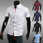 PROMOTION  CASUAL SHIRTS POLO T-SHIRTS MENS SHORT SLEEVE SHIRTS SOLID XS S M L