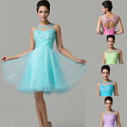 Colorful Princess Style Short Applique Homecoming Evening Party Banquet Dresses