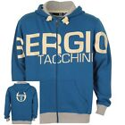 SERGIO TACCHINI HOODIE AVICO MENS BLUE FULL ZIP HOODED TOP UK S
