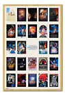 Framed Star Wars One Sheet Collage Poster Official New