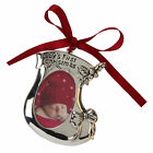 Silver Plated Baby's First 1st Christmas Tree & Bootee Hanging Ornament