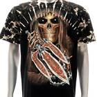 b146 Sz M L XL XXL XXXL Survivor T-shirt Tattoo STUD Skull Men Tee Rock Fashion