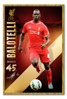 Liverpool FC Player Mario Balotelli Framed Cork Pin Memo Board With Pins