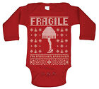 Fragile Leg Lamp a christmas story  movie  cute Red Long Sleeve Baby One Piece