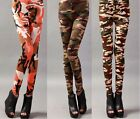 Wholesale fashion sexy lady wild handsome tri-color camouflage Slim Leggings