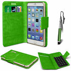 Green Leather Suction Wallet Flip Mobile Phone Case For Various Lenovo Sets