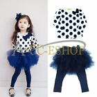Baby Toddler Girl Xmas Top Shirts + Tutu Dress Skirt Leggings Pants Outfits 2T-6