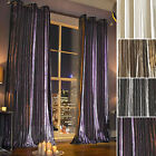 Kylie Minogue Iliana Velvet Lined Ready Made Ring Top Eyelet Long Heavy Curtains