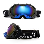 Snow Ski Goggles Anti Fog Dual Lens UV Protection 3 Layers Foam with POUCH!!