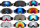 Men Snow Ski Goggles Anti Fog Dual Lens UV Protection 3 Layers Foam with POUCH!!