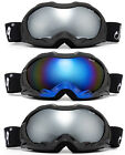 Adult  Men Snow Ski Winter Goggles Black or Flat Matte  Black Anti Fog Dual Lens