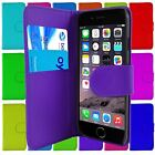 FLIP PU LEATHER WALLET CASE FOR IPHONE 6 CARD HOLDER MAGNETIC CATCH