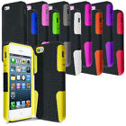 For NEW Apple iPhone 5 Mesh Silicone Combo Case Cover with LCD Screen Protector