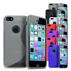 Stylish Tough Soft Silicone Gel Case for NEW iPhone 5S Cover & Screen Protector