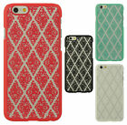 For Apple iPhone 6 4.7 TPU SKEW LACE GUMMY Hard Skin Case Cover + Screen Guard