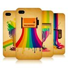 HEAD CASE COLOUR DRIPS PROTECTIVE COVER FOR APPLE iPHONE 4