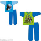 OFFICIAL DISNEY BOYS LONG LEG  PYJAMA KIDS FROZEN BLUE GREEN KRISTOFF OLAF SVEN