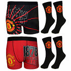 Manchester United FC Football Gift Mens Crest Socks & Boxer Shorts (RRP £14.99!)