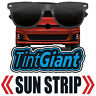 TINTGIANT PRECUT SUN STRIP WINDOW TINT FOR BMW 535d 4DR SEDAN 13-16
