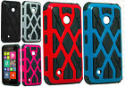 For Nokia Lumia 530 HARD Hybrid Spider Web Fusion Rubber Case Cover