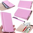 SLIM Pink Universal Wallet Case Leather Pouch Cover For Samsung Accessory