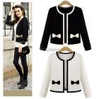 UK 6-14 Women Jacket Coat Front Open Long Sleeve Short Suit Blazer Outerwear TOP