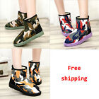 Hit Color Camouflage Lady Winter Snow Boot Flat heel Platform Ankle Bootie Shoes