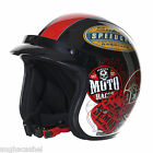 Stealth HD320 Open Face Old School Colour Motorcycle Biker Helmet