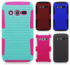 T-Mobile Samsung Galaxy Avant MESH Hybrid Silicone Rubber Skin Case Phone Cover