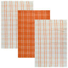 PACK OF THREE TEA TOWELS - ABSORBENT COTTON KITCHEN DISH DRYING TOWEL SET