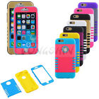 """3-Pieces Rubber Hybrid Shockproof Impact Defender Case Cover For iPhone 6 4.7"""""""