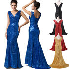 Bridesmaids Long Sequins Sexy Womens Cokctail Prom Gowns FISHTAIL DRESS Party 1