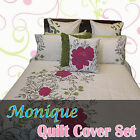 Monique Floral Spring Embroidery Quilt Cover Set  - DOUBLE QUEEN KING