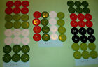 """1-1/8"""" lg Craft Buttons 28mm flatback Christmas embellish red green white CHOICE"""