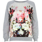 New Women's Sweater Coat Hoody Tops T-shirt Flowers Long Sleeve Casual Soft