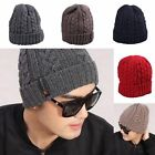 Men's Classic Winter Warm Wool Knit Ski Hat Outdoor Beanie Skull Caps Cuff Hat