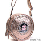 Betty Boop Small Embossed Rhinestone-accent Cylinder Bag $32.14 USD