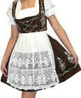 DIRNDL German Oktoberfest Summer Party Dress EMBROIDERED 3 pc SHORT Swing Garden