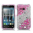 Alcatel ONETOUCH Evolve 2 Crystal Diamond BLING Hard Case Snap On Phone Cover