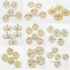 Wholesale Golden Various Pattern Inlay Rhinestones Alloy Charms Pendants Lots LC