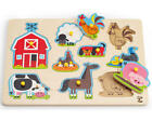 Hape WOODEN PEG PUZZLE Activity Learning Sorting Toy Baby Toddler Child