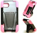 BLACK & PINK T-Stand Hybrid Cover Case for LG Optimus F3