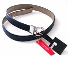 Womens Ladies Belts Navy Blue Taupe Reversible Skinny Belt Sizes Small XL NEW