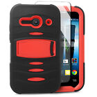 For Alcatel ONETOUCH Evolve 2 RUGGED Hard Rubber Phone Case Cover Kickstand