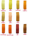 "25y 50y 100y Reel 6mm 1/4"" Yellow Gold Orange Premium Grosgrain Ribbon Eco"