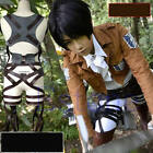 Cos Cosplay Costume Attack on Titan Shingeki No Kyojin Recon Corps Belt Hookshot