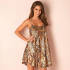 Womens Glamorous Copper Silver Sequin Dress In Multi