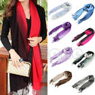 Women Stole Long Large Pashmina Tassels Gradient Wool Scarf Shawl Scarves Wraps